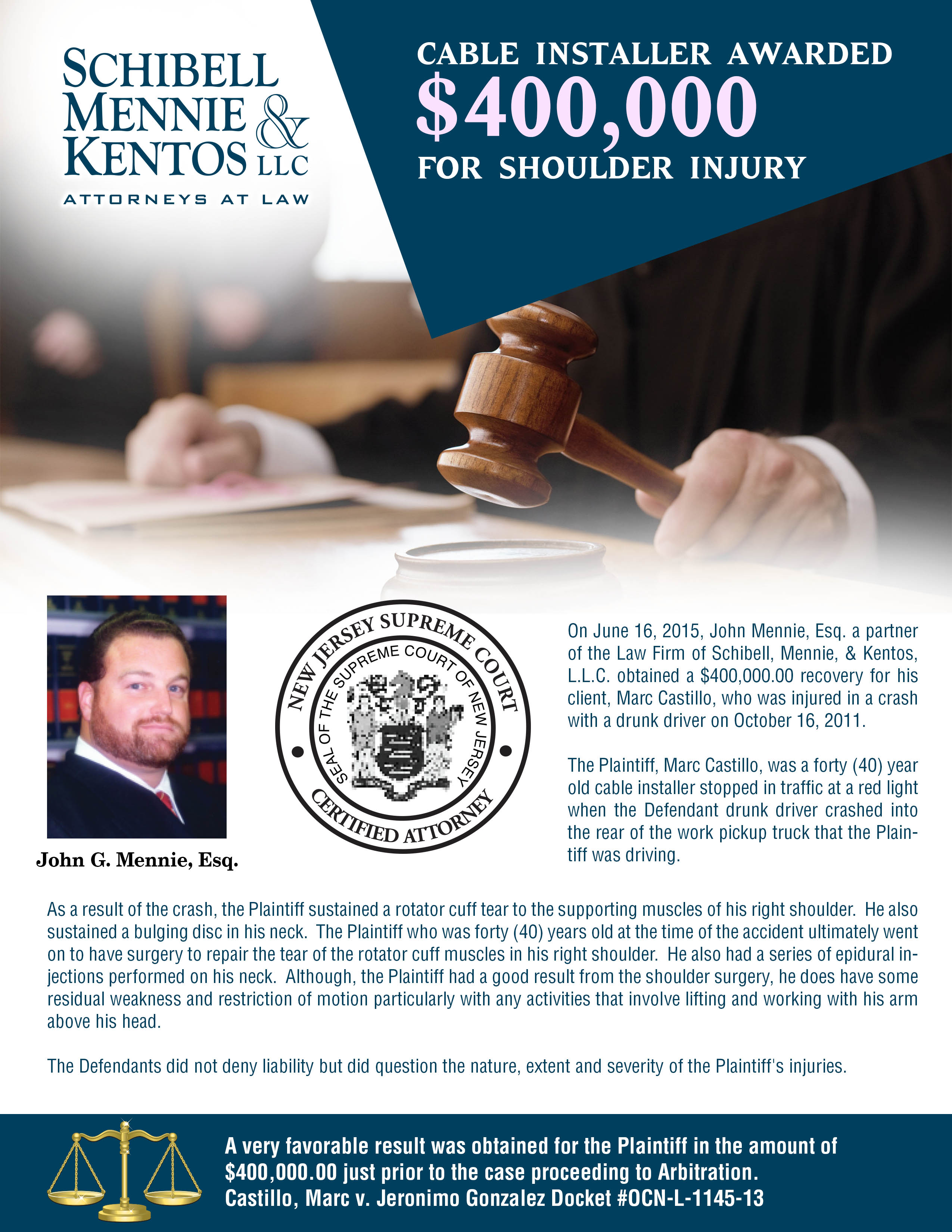 John Mennie Personal Injury Attorney