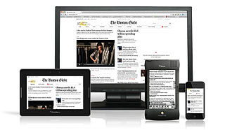 Monitor, ipad , smart phone showing a responsive web design