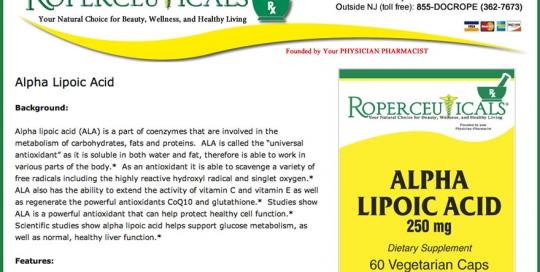 Roperceuticals